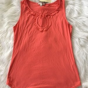 Sophie Max Coral Keyhole Sleeveless Top Sz S